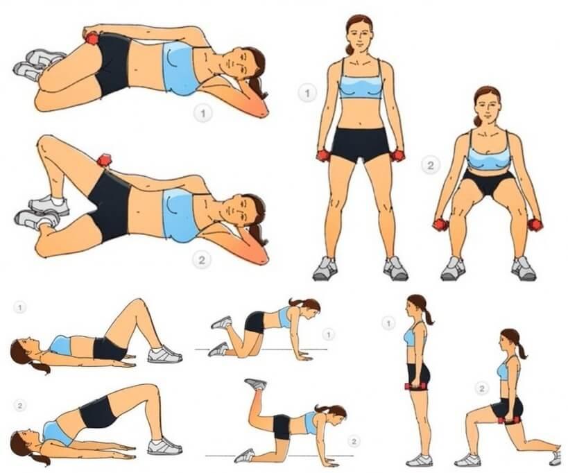 упражнения для тренировки ног и ягодиц